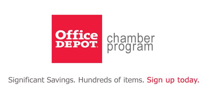 Save Money with our Chamber Member Office Depot Program